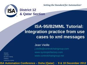 2012 - ISA Doha - Integration practice tutorial.ppt
