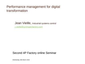 2016 - Performance management for digital transformation (ppt)