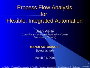 2001 - MIT - Process Flow Analysis for flexible, integrated automation.ppt