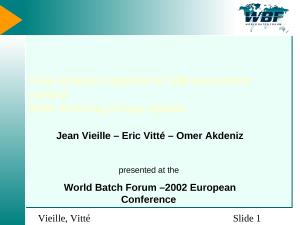 2002 - WBFeu - Flow Analysis applied to S88 equipment control - WBF Working Group Update.ppt