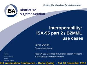 2012 - ISA Doha - ISA95-B2MML use cases.ppt