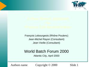 2000 - WBFna - A Flow Stream Approach for Process Cell Modularization.ppt