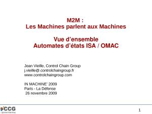 2009 - Inmachine - M2M Les Machines parlent aux Machines.pptx